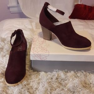 Shoes - JG Wine Booties
